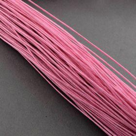 Voskovaná šňůra 0,7 mm, 1 m, světle růžová