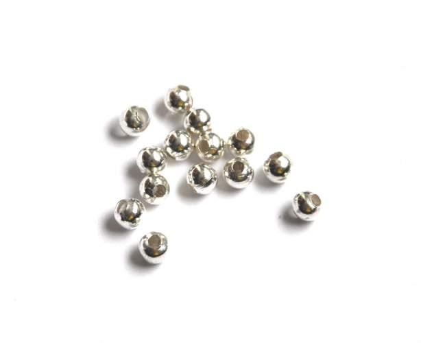 Korálek 3 mm, 100 ks, stříbrný