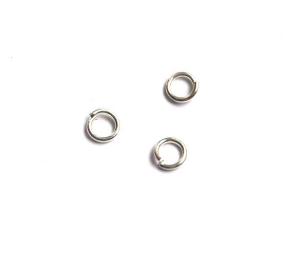Spojovací kroužek 5 mm 100 ks - stříbrný