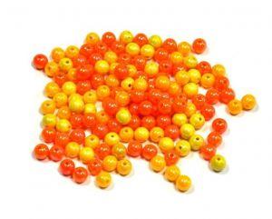 Akrylové korálky 8 mm, 50 ks, mix oranžová