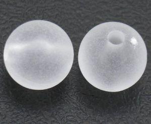 Korálky 6 mm matné, 50 ks, bílá