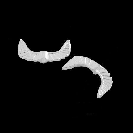 Křídla anděla 18x10 mm, 50 ks, stříbrná