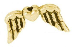 Křídla anděla 18x11 mm, 50 ks, antik zlatá