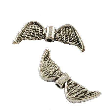 Křídla anděla 21x8 mm, 50 ks, starostříbrná