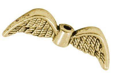 Křídla anděla 21x8 mm, zlatá antik