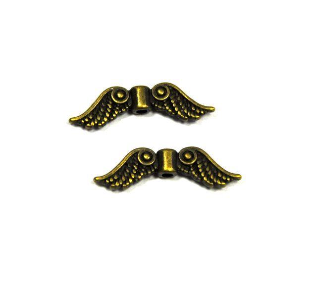 Křídla anděla 23x7 mm, starozlatá