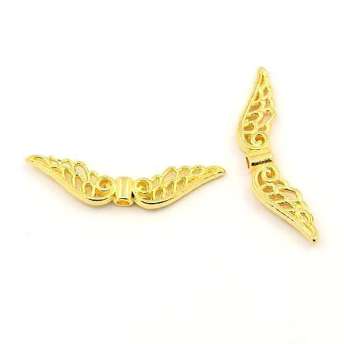 Křídla anděla 32x6 mm, 20 ks, zlatá