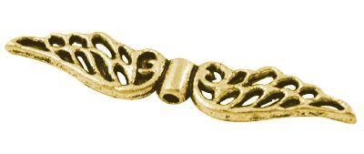 Křídla anděla 32x6 mm, 20 ks, zlatá antik