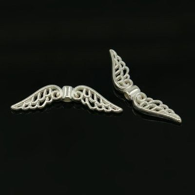 Křídla anděla 32x6 mm, stříbrná