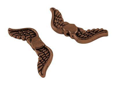 Křídla anděla se srdíčkem 20x7mm, 50 ks, měděná
