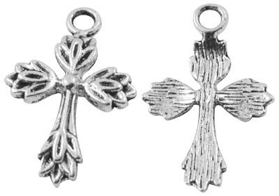 Křížek 26 mm, starostříbrná