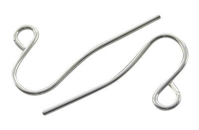 Náušnicový háček jednoduchý, 100 ks , stříbrný bez niklu