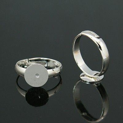 Polotovar prsten s ploškou 8 mm, dětská velikost 14 mm