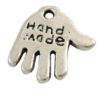 Přívěsek ruka 13 mm, 20 ks, starostříbro