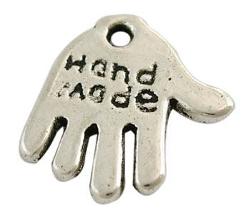 Přívěsek ruka 13 mm, starostříbro
