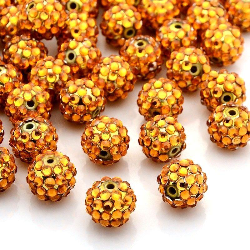 Šatonová kulička 14 mm, zlatá