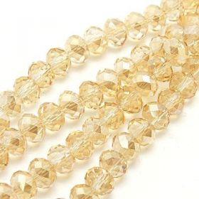 Slavík 6x4 mm, 100 ks, světle zlatá