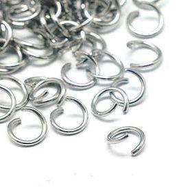 Spojovací kroužek otevřený 4 mm, 100 ks, chirurgická ocel