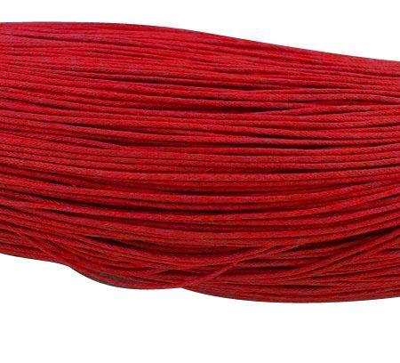 Voskovaná šňůra 0,7 mm, 1 m, červená