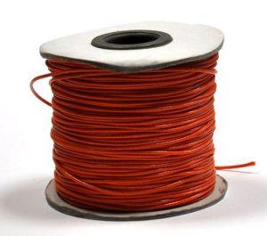 Voskovaná šňůra lesklá 1 mm, 1m, oranžová