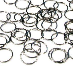 Spojovací kroužek 10 mm 100 ks - černý