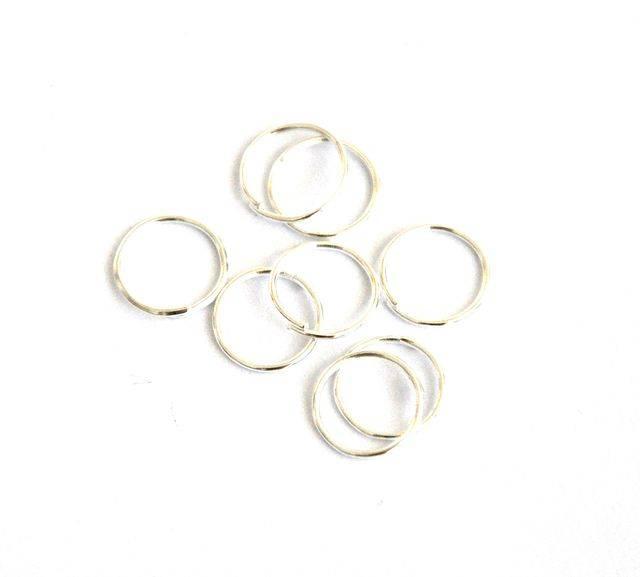 Spojovací kroužek 10 mm 100 ks - sříbrný