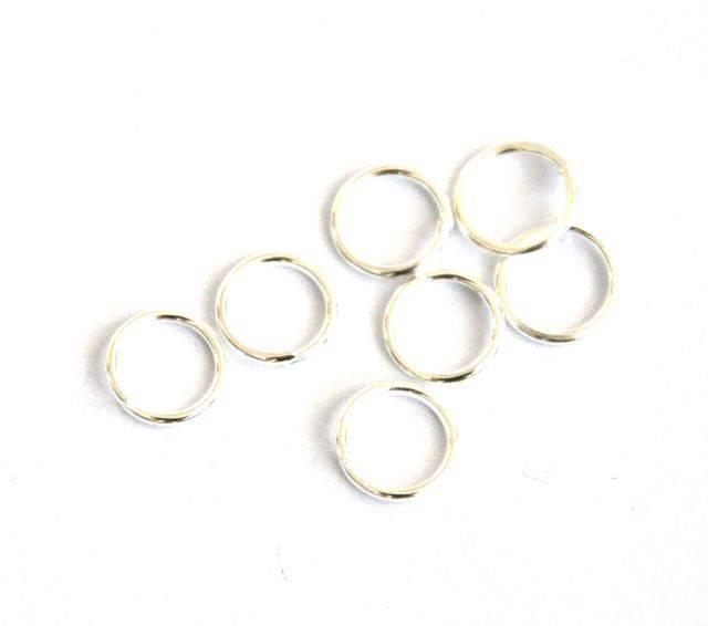 Spojovací kroužek 7 mm 100 ks - stříbrná