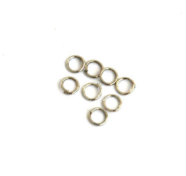 Spojovací kroužek 4 mm, 100 ks, platinový