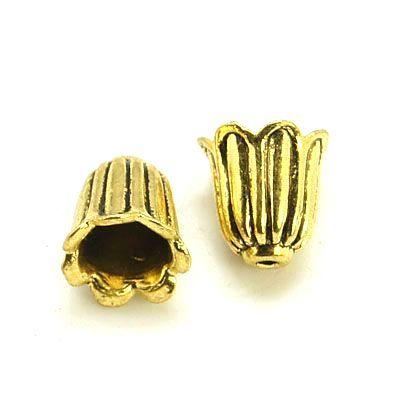 Kaplík 10x10 mm, 20 ks, antik zlatá