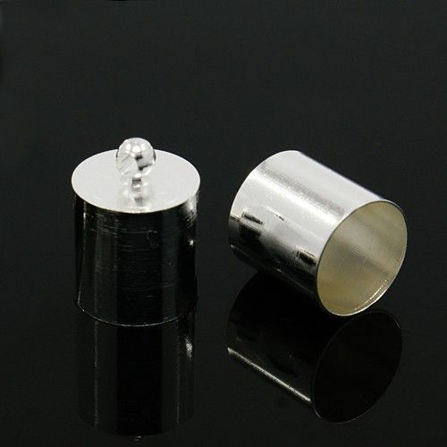 Kaplík 14x10 mm s vnitřním průměrem 9 mm, 2 ks, stříbrná