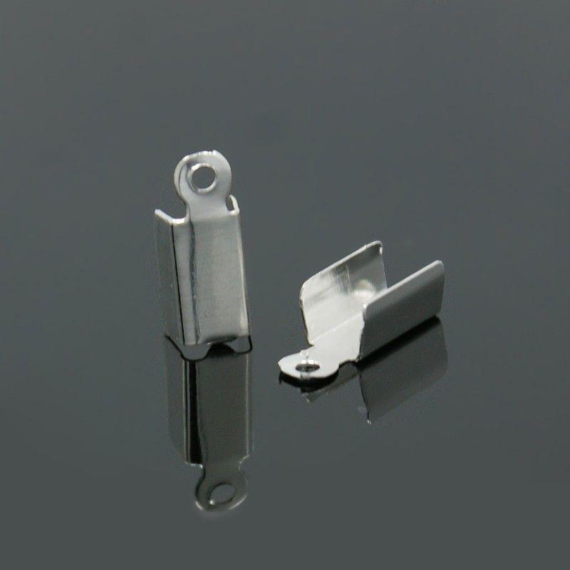 Koncovka 12x4x4 mm, 100 ks, stříbrná