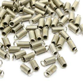 Koncovka pružinka 8,5x3 mm/vnitřní průměr 1,5 mm, 20 ks, platinová