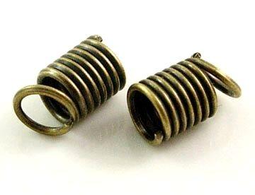 Koncovka pružinka 9,5x3,5 mm/vnitřní průměr 3 mm, 20 ks, starozlato