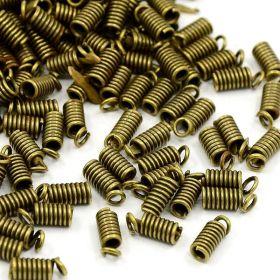 Koncovka pružinka 9x3,5 mm/vnitřní průměr 1,8 mm, 20 ks, starozlatá