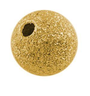 Korálek zdobený 4 mm, 20 ks, zlatý