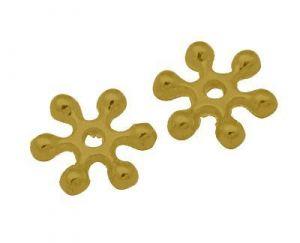 Květ s rameny 8 mm, 10 ks, antik zlatá