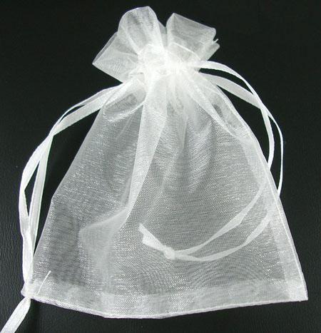 Organzový sáček 10x12 cm, bílý