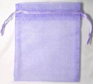 Organzový sáček 10x12 cm, fialový