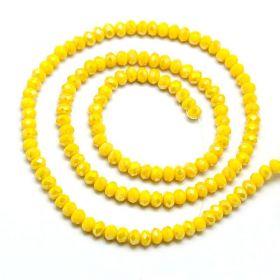 Slavík 4x3 mm, 150 ks, plnobarevná žlutá s AB pokovam