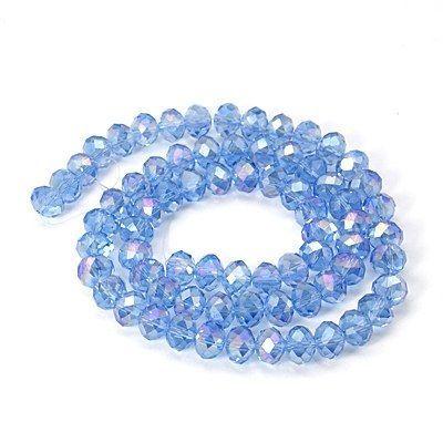 Slavík 6x4 mm, světle modrá, 100 ks