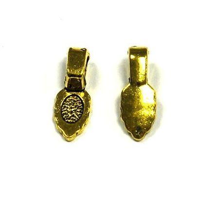 Závěs s ploškou k nalepení 16 mm, 10 ks, antik zlatá