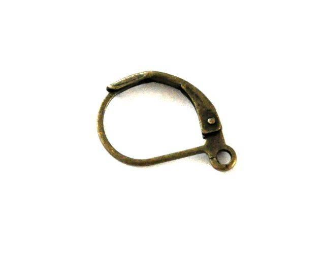 Náušnicový háček uzavřený 2 ks, starozlatý