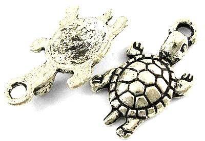 Přívěsek želva 23mm, 20 ks, starostříbro