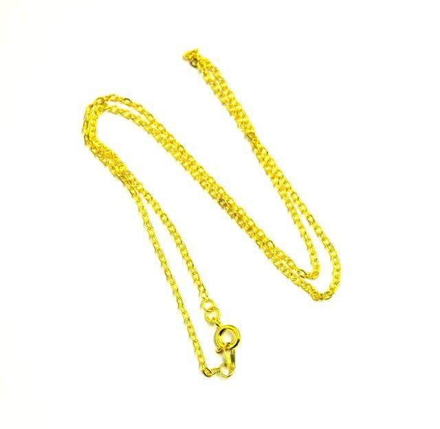 Řetízek s karabinou 45 cm, zlatý