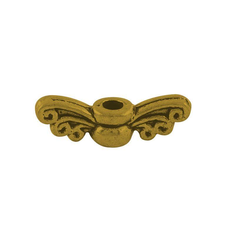 Andělská křídla malá 14x4 mm, 50 ks, antik zlatá