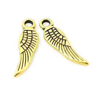Andělské křídlo malé 17 mm, antik zlatá