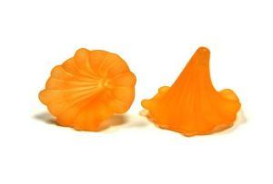 Akrylový zvonek 41x35 mm, oranžový