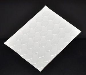 Čirý epoxy kabošon z pryskyřice 13x18 mm