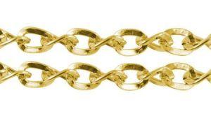 Řetízek hrubší 5x4 mm, 1m, zlatý