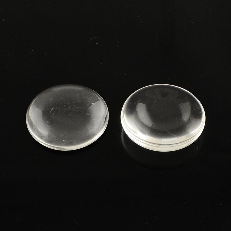 Skleněný kabošon 20 mm, čirý